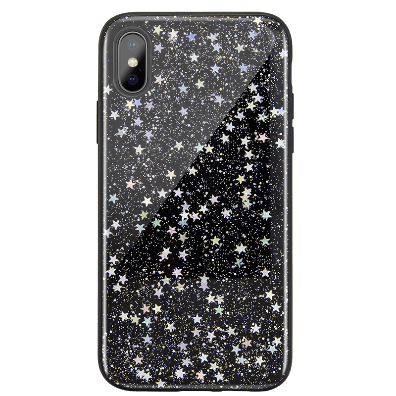 "Starfield 閃耀星空流沙手機殼 for iPhone Xs Max 6.5""-暗黑星"