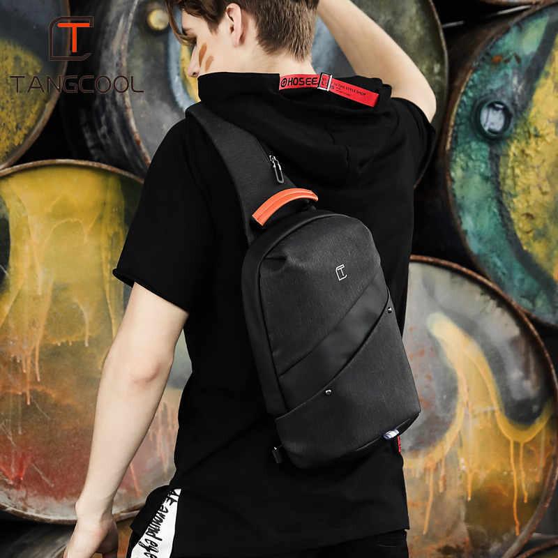 tangcool平板保護斜肩包 防水胸包 斜挎單肩單肩包 休閒運動 潮牌斜背包平板保護包