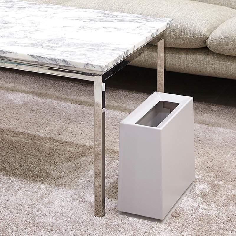 方磚家用垃圾桶-8.5L 灰白