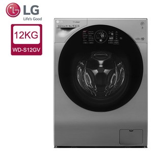 LG 12公斤WiFi極窄美型滾筒洗衣機(蒸洗脫烘)WD-S12GV