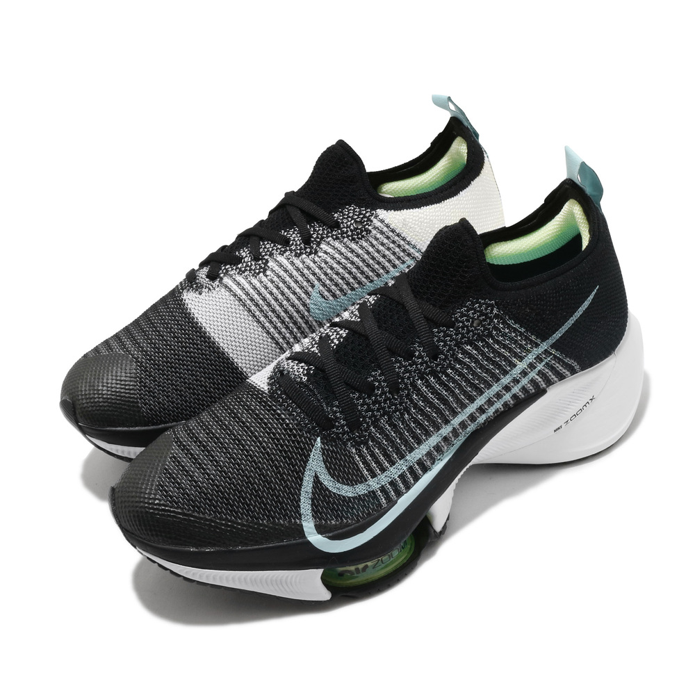 NIKE 慢跑鞋 Zoom Tempo Next 女鞋 氣墊 避震 舒適 透氣 路跑 健身 球鞋 黑 藍 [CI9924-001]