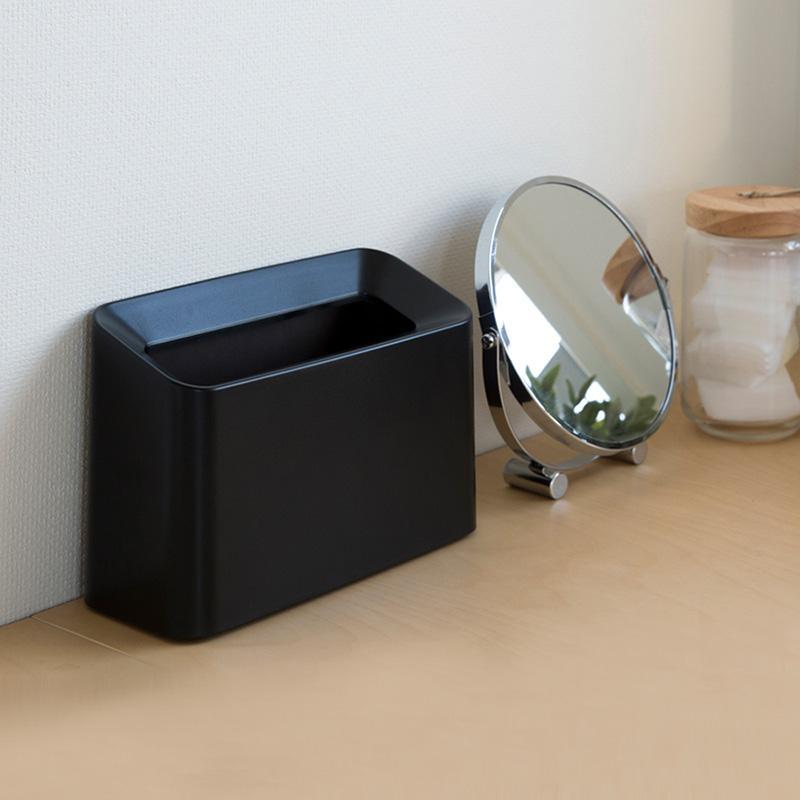 纖形斜口桌邊置物/垃圾桶-1.7L 黑