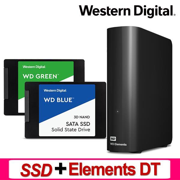 WD SSD + Elements Desktop 3.5吋外接硬碟(可替換容量)