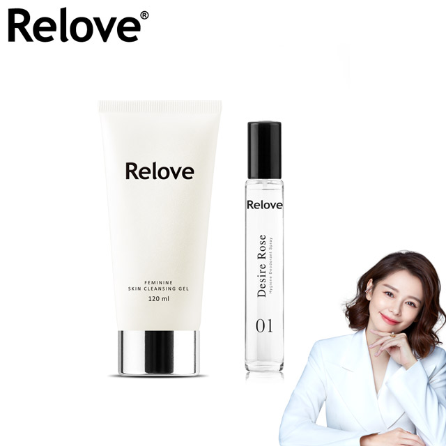 Relove私密胺基酸潔淨凝露120ml+ReloveG7私密弱酸私密護理噴霧-慾望玫瑰-15ml