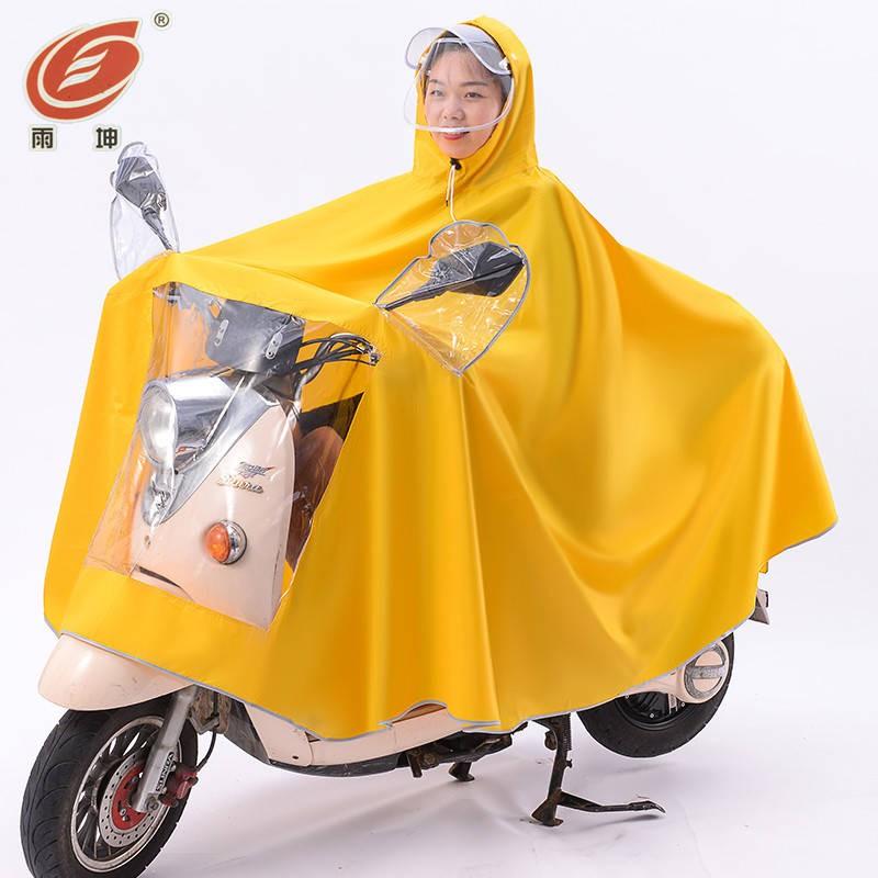推薦精選 雨衣女電動車雨披電瓶車雙人加大單人加厚雙帽檐防雨成人男女新款
