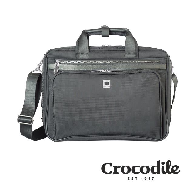 Crocodile B-Light系列 Ripstop防潑水雙層公事包(S)0104-08902-01