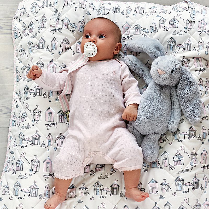 丹麥GreenGate Ellison pale 兒童被 120x120cm / 共2色