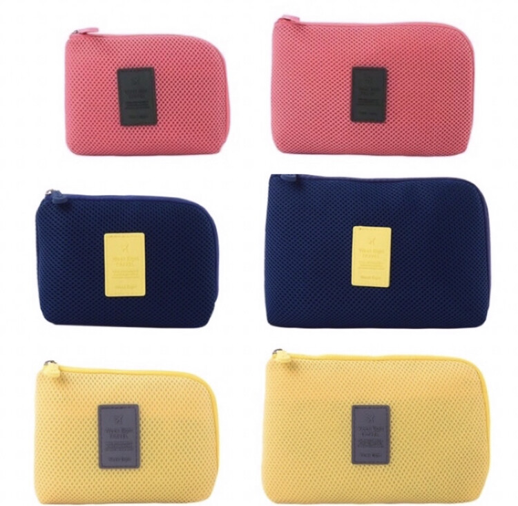 s.shop(小)數碼收納包 行動電源收納包 收納網格袋 數據線收納包 充電器收納包 化妝包 盥洗包