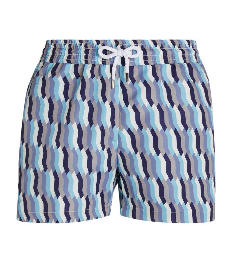 Frescobol Carioca Mosaic Print Swim Shorts
