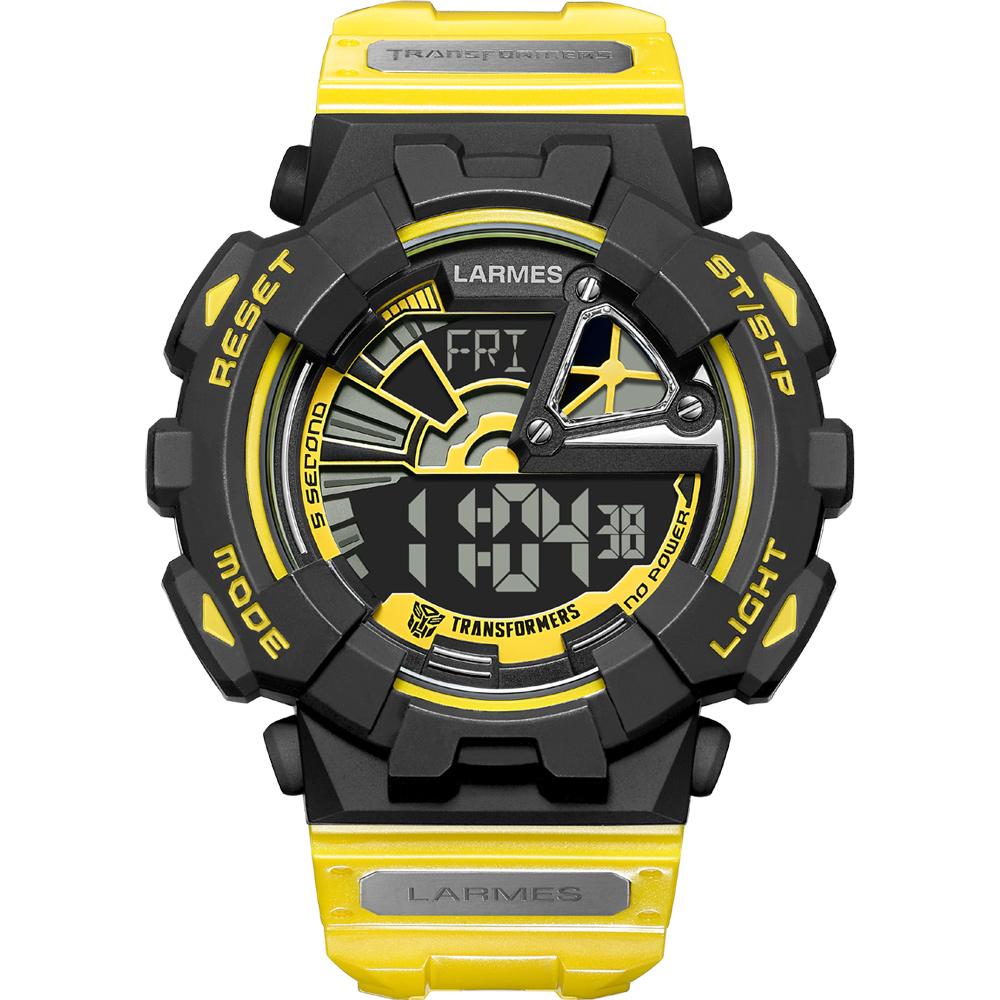 LARMES Transformers 變形金剛 聯名限量玩色潮流腕錶(大黃蜂)LM-TF002.BB61N.121.6GB