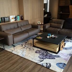 【山德力】親膚厚實 暖心 紐西蘭羊毛地毯-舞蝶藍 160x230cm