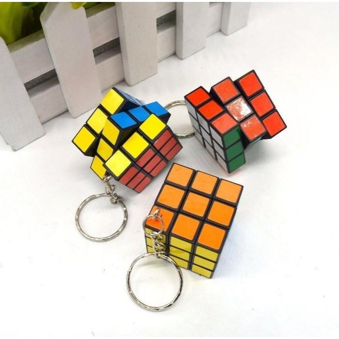 魔術方塊 三階 魔方 迷你 魔方 鑰匙扣 益智玩具yf2403