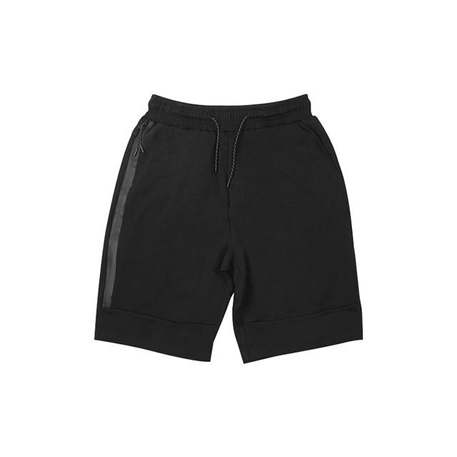 [現貨] 棉質防水拉鍊短褲加長拉鍊超深大口袋運動籃球跑步訓練短褲運動褲黑色灰色【QZZZ7296】