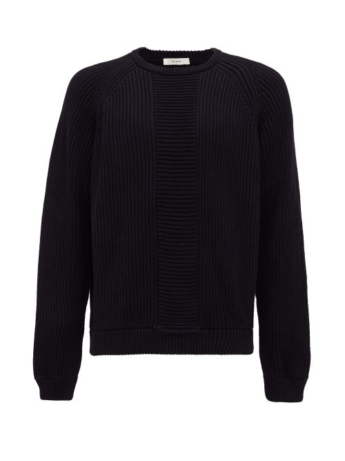The Row - Rory Rib-knitted Cotton Sweater - Mens - Navy