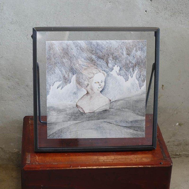 色鉛筆 原畫 意象篇 相框 畫 掛畫 居家裝飾