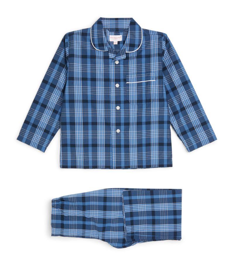 Derek Rose Kids Brushed Check Pyjama Set (3-16 Years)