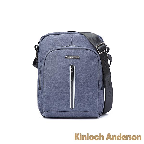 金安德森 Force極簡造型拉鍊直立斜背包 藍色