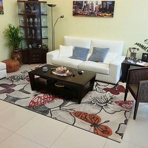 【山德力】親膚厚實 暖心 紐西蘭羊毛地毯-舞蝶紅 200x300cm