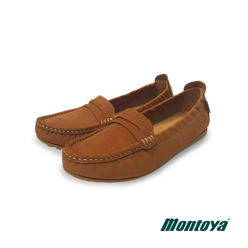 montoya 女款 棕色  磨砂皮後鬆緊莫卡辛鞋-L8265605