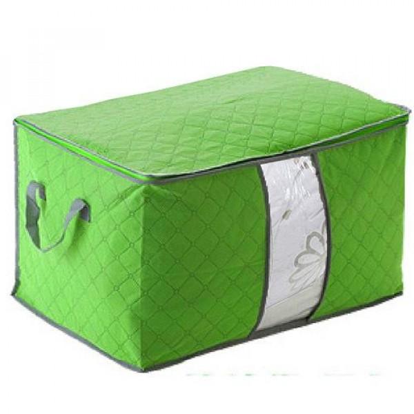 月陽60X40竹炭彩色加高型透明視窗衣物收納袋整理箱(C13...