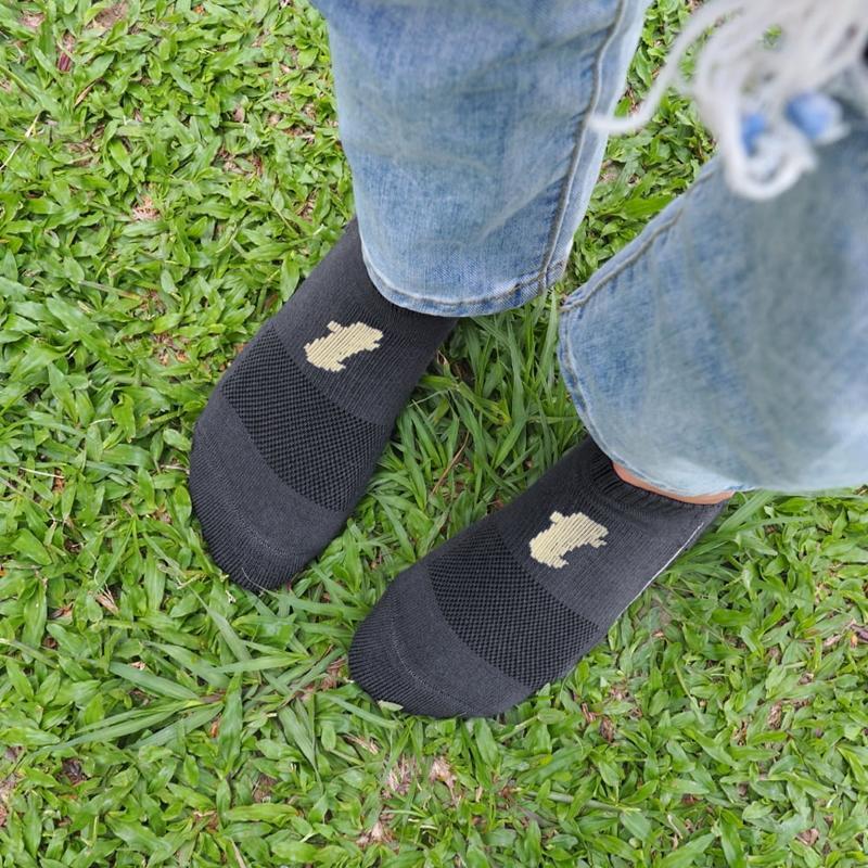 舒壓生活踝襪-深灰-5雙_送titan立體洗衣袋 L(26-29cm)