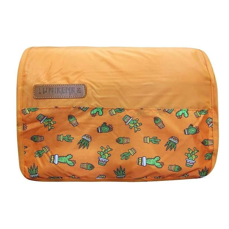 秘密花園野餐墊(抗菌防蚊)-卡特斯(橘)3X3M(請注意尺寸)