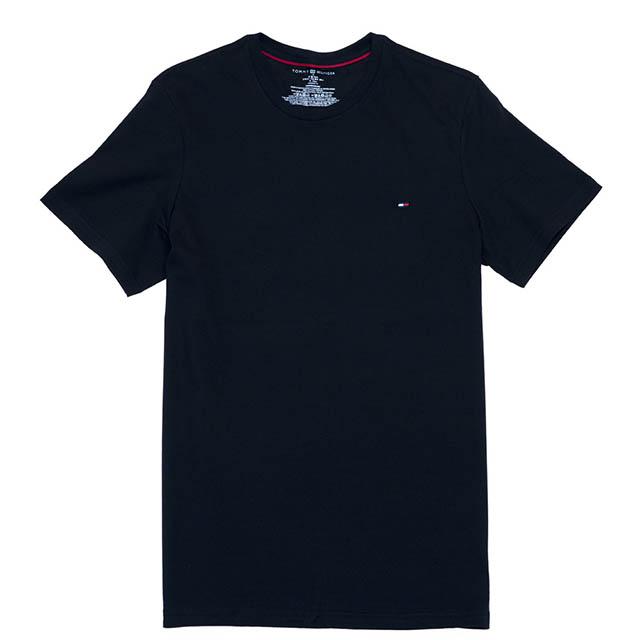 Tommy Hilfiger 小 LOGO素色T恤  (黑色)