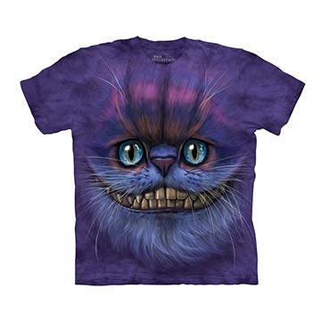 【摩達客】(現貨) 美國進口The Mountain 笑笑柴郡貓臉 純棉環保短袖T恤