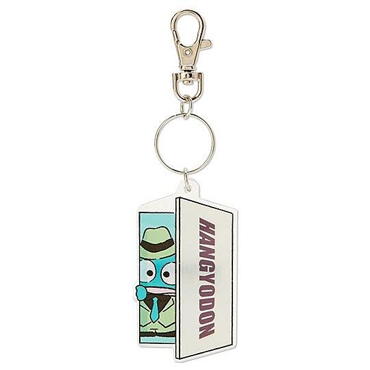 小禮堂 海怪 造型壓克力鑰匙圈 塑膠吊飾 掛飾 (藍 俏皮偵探) 4550337-43109