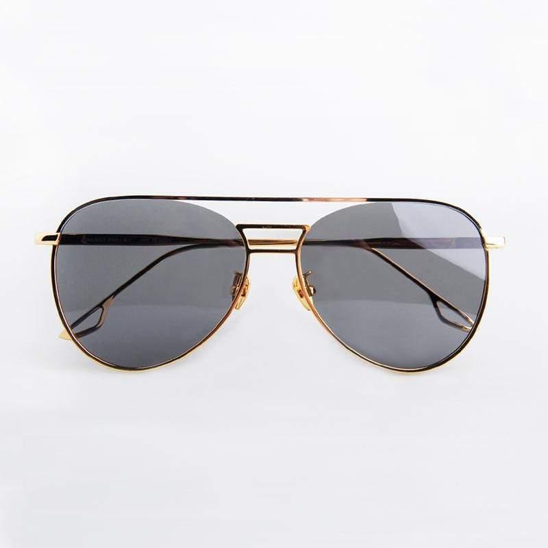雙槓飛行款(白金‧灰色)太陽眼鏡