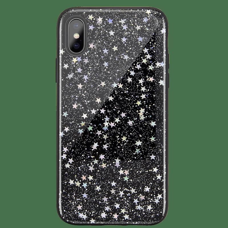 "Starfield 閃耀星空流沙手機殼 for iPhone Xs 5.8""-暗黑星"