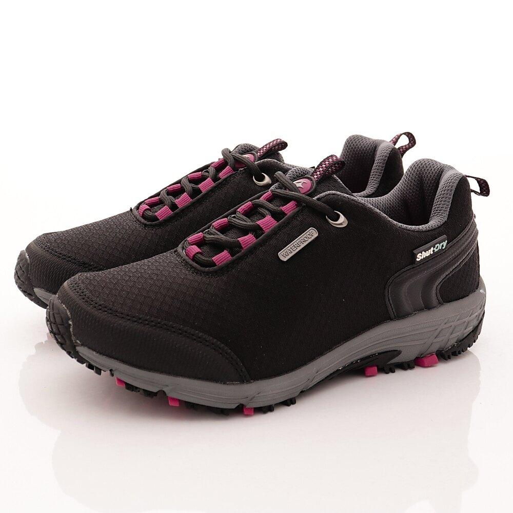 日本月星Moonstar機能女鞋戶外多功能系列4E寬楦防水透濕健走鞋款026黑(女段)