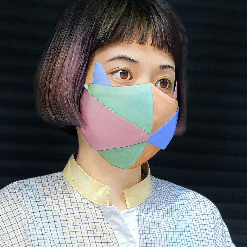 彩光貓摺紙藝術口罩