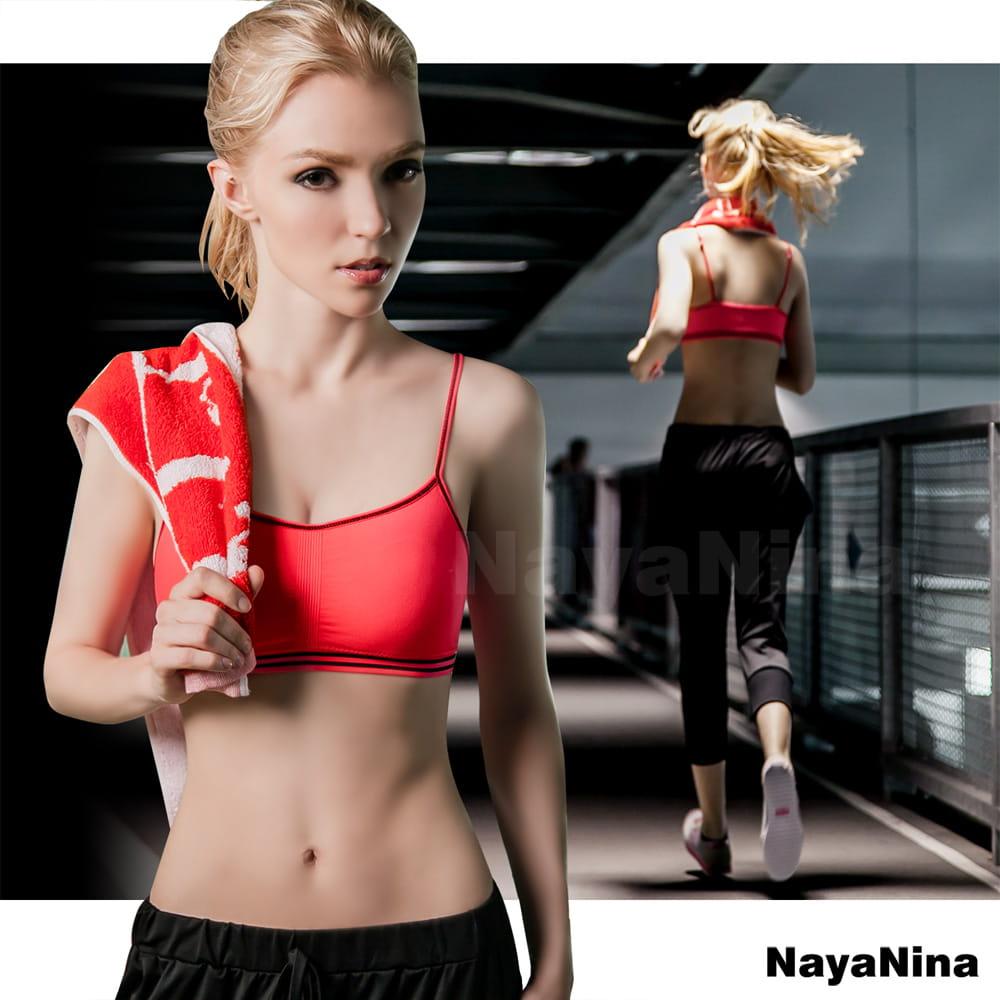 薄感無縫透氣舒適低強度細肩帶無鋼圈運動內衣S-XL全尺碼-五色可選