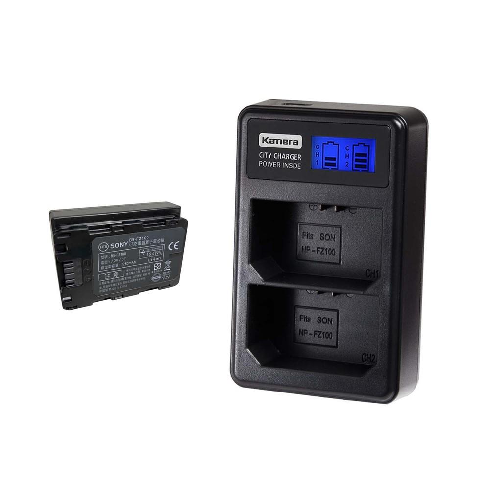 【電池充電組】Sony NP-FZ100電池+雙槽充電器
