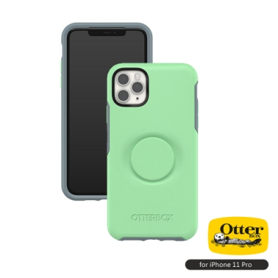 OtterBox Otter+Pop iPhone 11 Pro(5.8吋)專用 防摔吸震保護殼-Symmetry炫彩幾何泡泡騷系列■薄荷綠