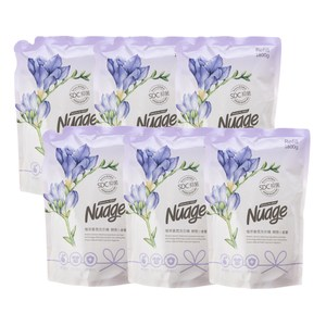 (組)Nuage植萃抗菌香氛洗衣精補充包1800ml-蝶戀小蒼蘭x6