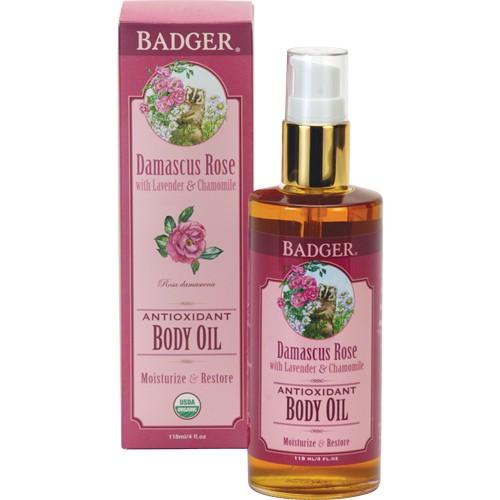 Badger 貝吉獾 大馬士革玫瑰身體護膚油 按摩油 118ml