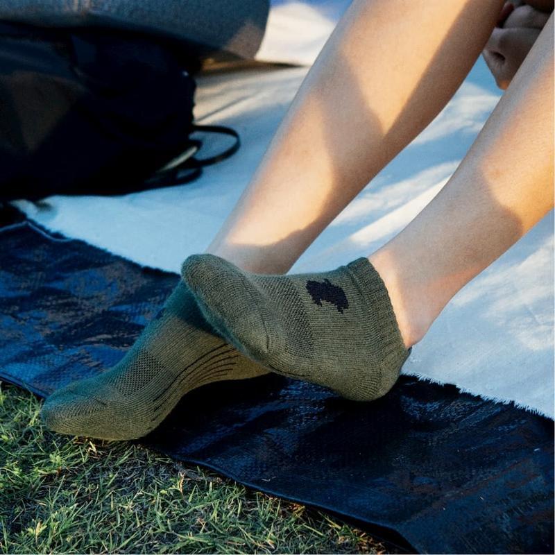 舒壓生活踝襪-軍綠-5雙_送titan立體洗衣袋 M(22-25cm)