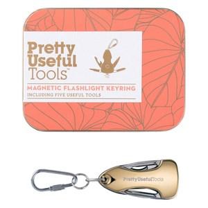 【Pretty Useful Tools】金色5合1鑰匙圈手電筒-附磁