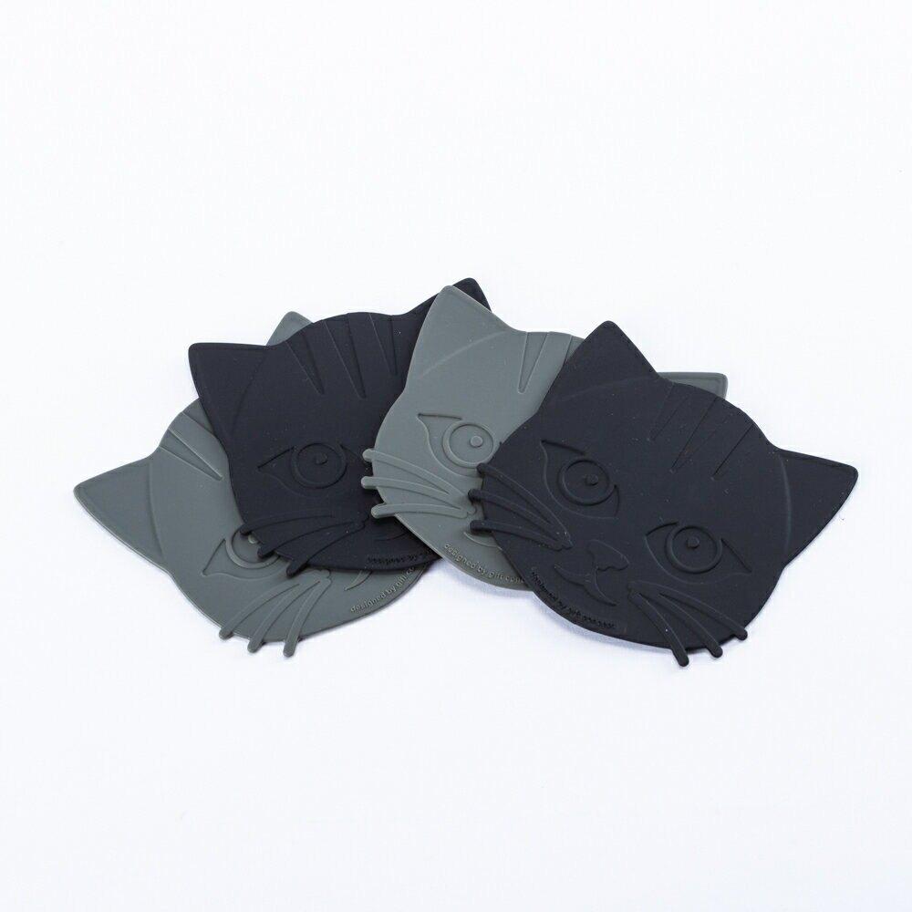 【Sale下殺3折up】GiftConcept貓咪杯墊4入組-生活工場