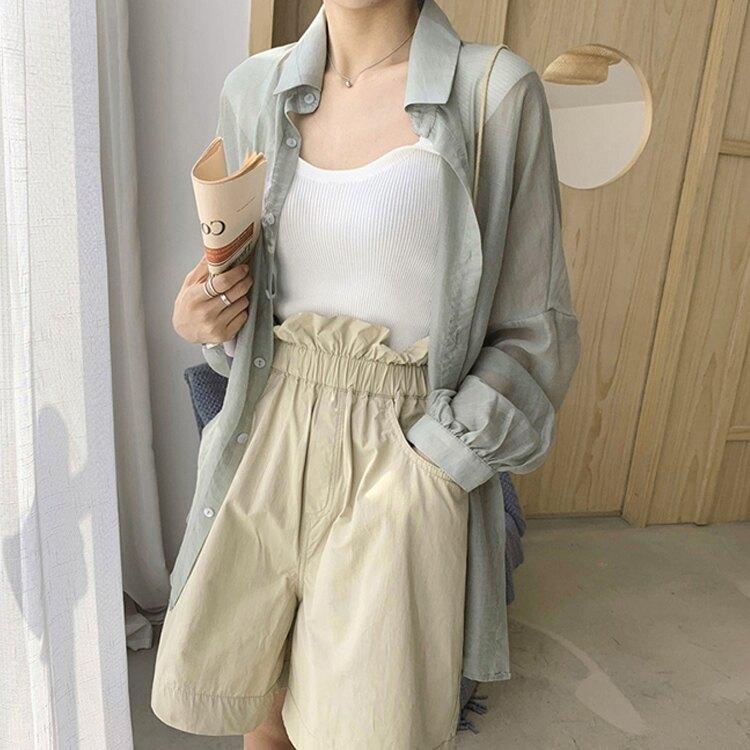防曬衣 防曬衣女薄款夏季新款洋氣長袖網紅寬松冰絲百搭雪紡開衫超薄外套