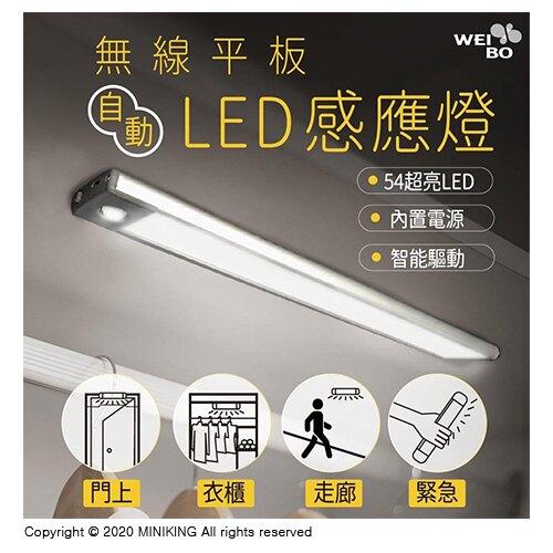 現貨 公司貨 WEI BO 無線 平板 自動 LED 感應燈 自動燈 54顆LED 磁吸 衣櫃燈 走廊燈 緊急燈 樓梯燈