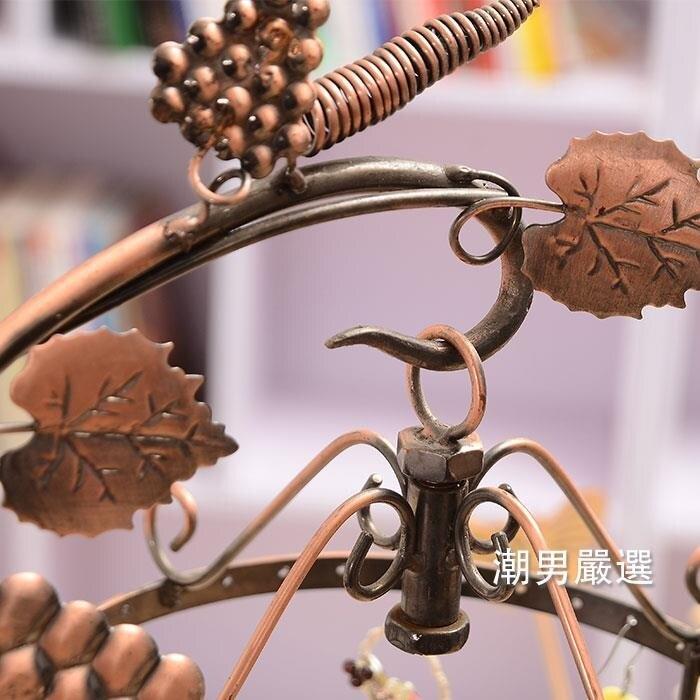 飾品架可旋轉首飾葡萄藤吊環首飾展示架飾品架耳環耳釘項鍊架子xw