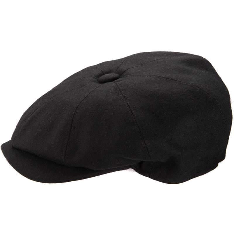 8 Piece Baker Boy - Melton wool Black-L (59cm)
