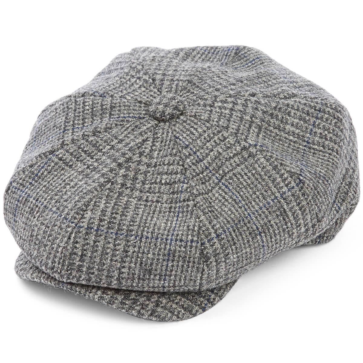 8 Piece Baker Boy Tweed Flat Cap - Z530 - size M