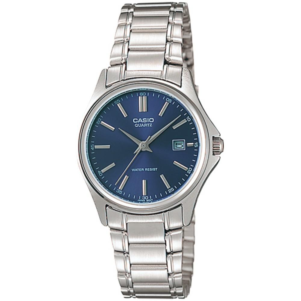 【CASIO】卡西歐手錶 LTP-1183A-2A 韓系簡約風時尚配件女錶-藍 原廠公司貨