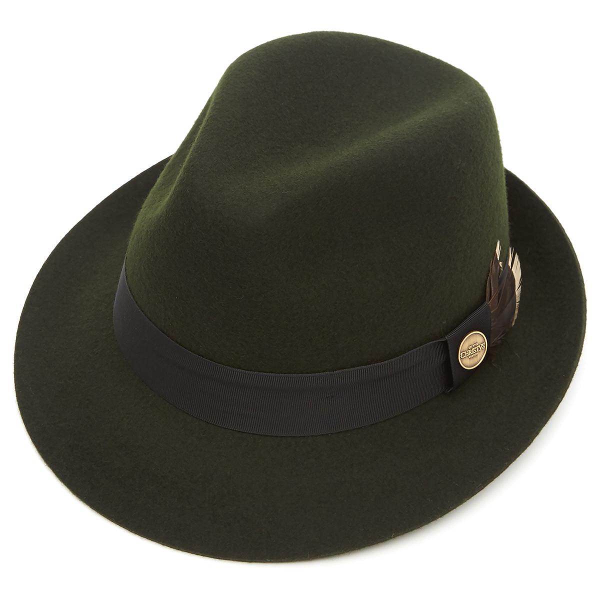 Wychwood Wool Felt Trilby Hat Moss Xl
