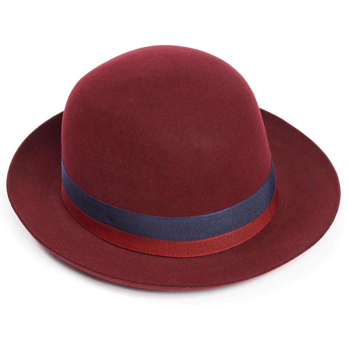 Seasonal Foldaway Fur Felt Trilby Hat in Red Wine - Red Wine in Size 55cm