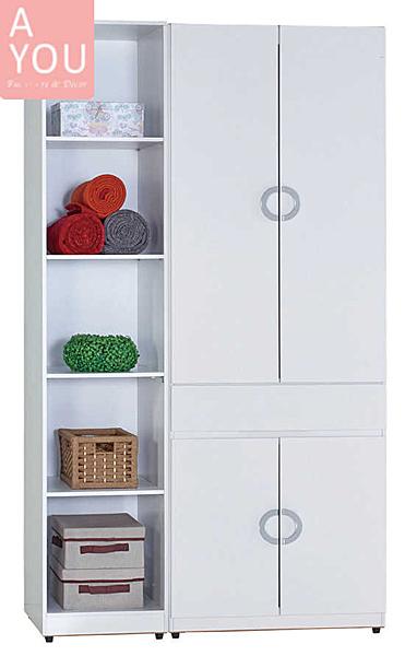 凱倫4尺組合衣櫃(大台北地區免運費)【阿玉的家2020】